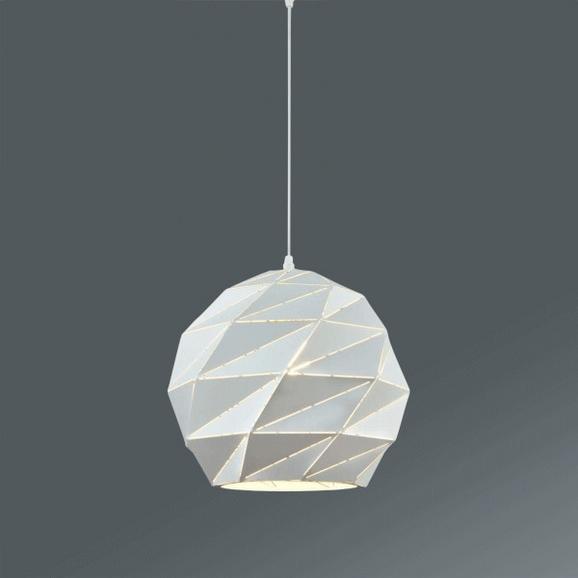 Hängeleuchte Jasmina, max. 60 Watt - Weiß, LIFESTYLE, Metall (32/120cm) - Modern Living
