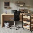 Papierkorb Cage Braun/Schwarz - Schwarz, MODERN, Holz/Metall (31/31/31cm) - Modern Living