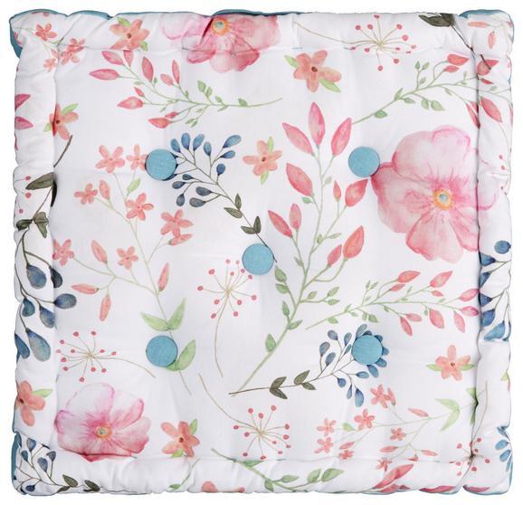 Boxkissen Blossoms Multicolor - Multicolor, ROMANTIK / LANDHAUS, Textil (40/40/8cm) - Mömax modern living