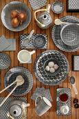 Dessertteller Shiva verschiedene Designs - Schwarz/Weiß, LIFESTYLE, Keramik (21cm) - Mömax modern living