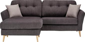 Sedežna Garnitura Gran Canaria - naravna/temno siva, Trendi, tekstil (210/156cm) - Modern Living