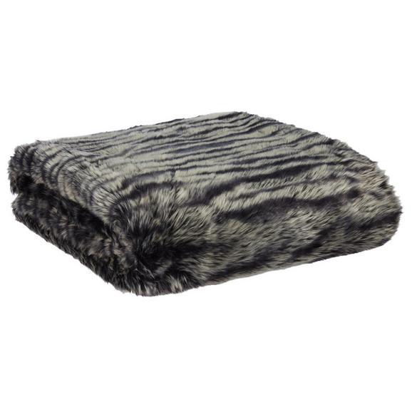 Felldecke Lc in Schwarz/Weiß - Schwarz/Weiß, MODERN, Textil (130/170cm) - Premium Living