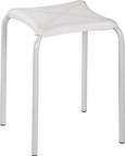 Stapelhocker in Weiß aus Stahl - Weiß, Kunststoff/Metall (34/46/34cm) - Mömax modern living