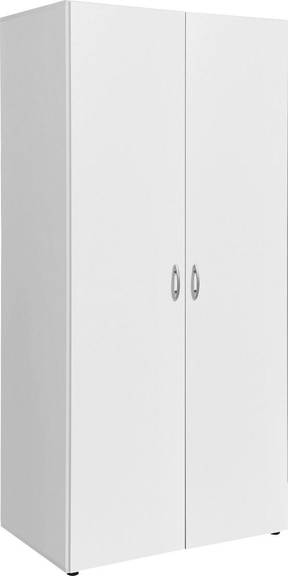Drehtürenschrank in Weiß - Alufarben/Weiß, KONVENTIONELL, Holzwerkstoff/Kunststoff (81/176/51cm) - Based