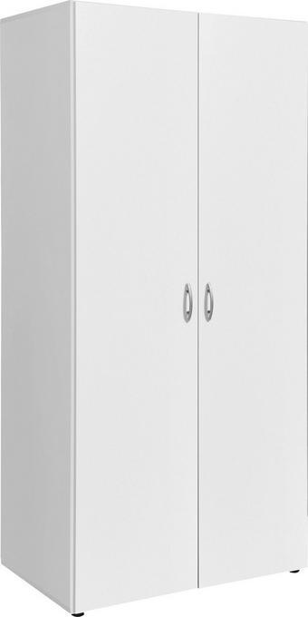 Omara S Klasičnimi Vrati Wels -based- - bela, Konvencionalno, leseni material (80/177/52cm) - BASED