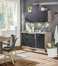 Küchenblock Milano Anthrazit/Eiche - Eichefarben/Anthrazit, MODERN, Holzwerkstoff (150cm)
