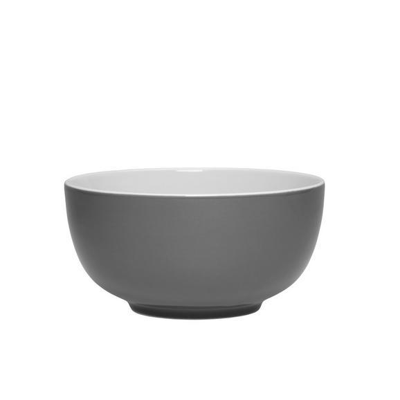 Müslischale Sandy in Grau aus Keramik - Grau, KONVENTIONELL, Keramik (13,7/6,6cm) - Mömax modern living
