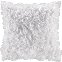 Okrasna Blazina Rosalinde - bela, Romantika, tekstil (40/40cm) - MÖMAX modern living