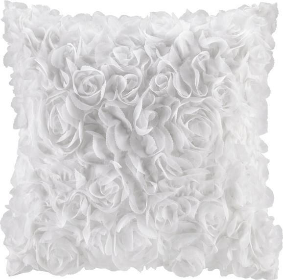 Zierkissen Rosalinde in Weiß, ca. 40x40cm - Weiß, ROMANTIK / LANDHAUS, Textil (40/40cm) - Mömax modern living