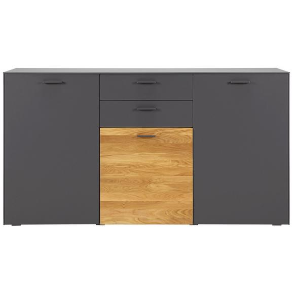 sideboard in anthrazit eiche online kaufen m max. Black Bedroom Furniture Sets. Home Design Ideas