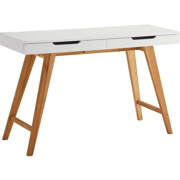 Schreibtisch braun wei online kaufen m max for Schreibtisch holz braun