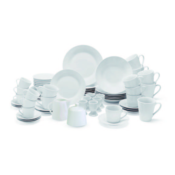 Serviciu De Masă Complet Lena - alb, ceramică - Mömax modern living