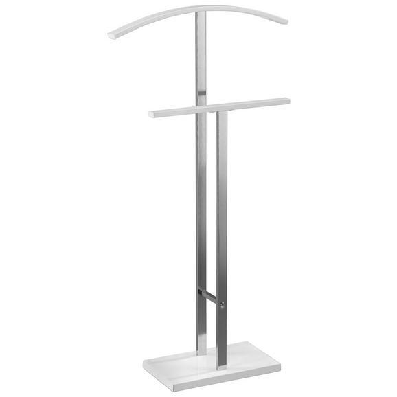 Valet Haine Helma - Alb/Crom, Modern, metal (48/100/20cm)
