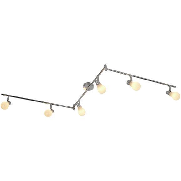 Deckenleuchte Bahar max. 25 Watt - Silberfarben/Weiß, ROMANTIK / LANDHAUS, Kunststoff/Metall (180cm) - Modern Living