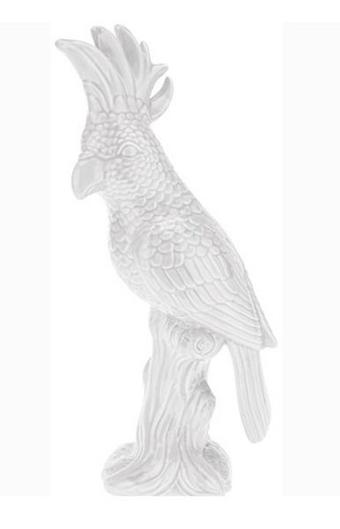 Dekor Madár Laura - Fehér, Kerámia (28cm)