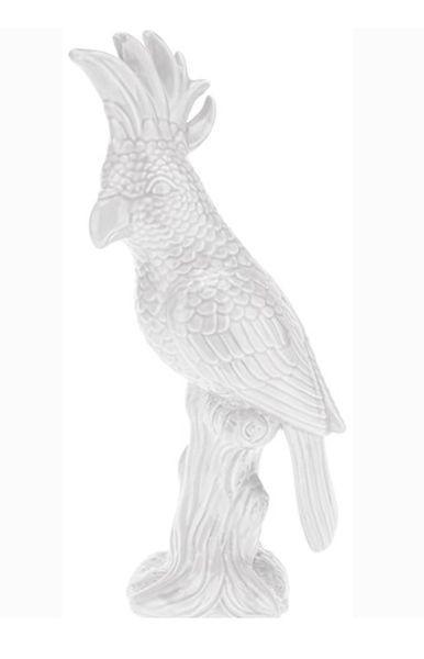 Dekovogel Laura in verschiedenen Farben - Weiß, Keramik (28cm)