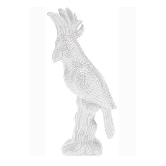 Okrasni Ptič Kaia - bela, keramika (28cm)