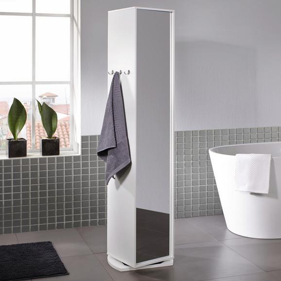 Spiegelschrank Bianca - Klar/Weiß, MODERN, Glas/Holz (30/160/30cm) - Mömax modern living