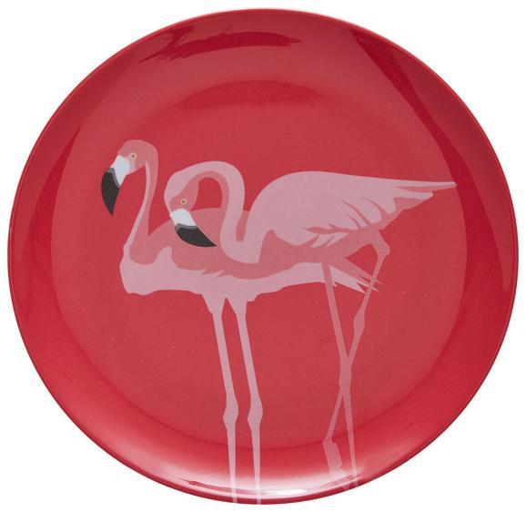Dessertteller Flamingo Couple Pink - Pink, Trend, Kunststoff (20cm) - Mömax modern living