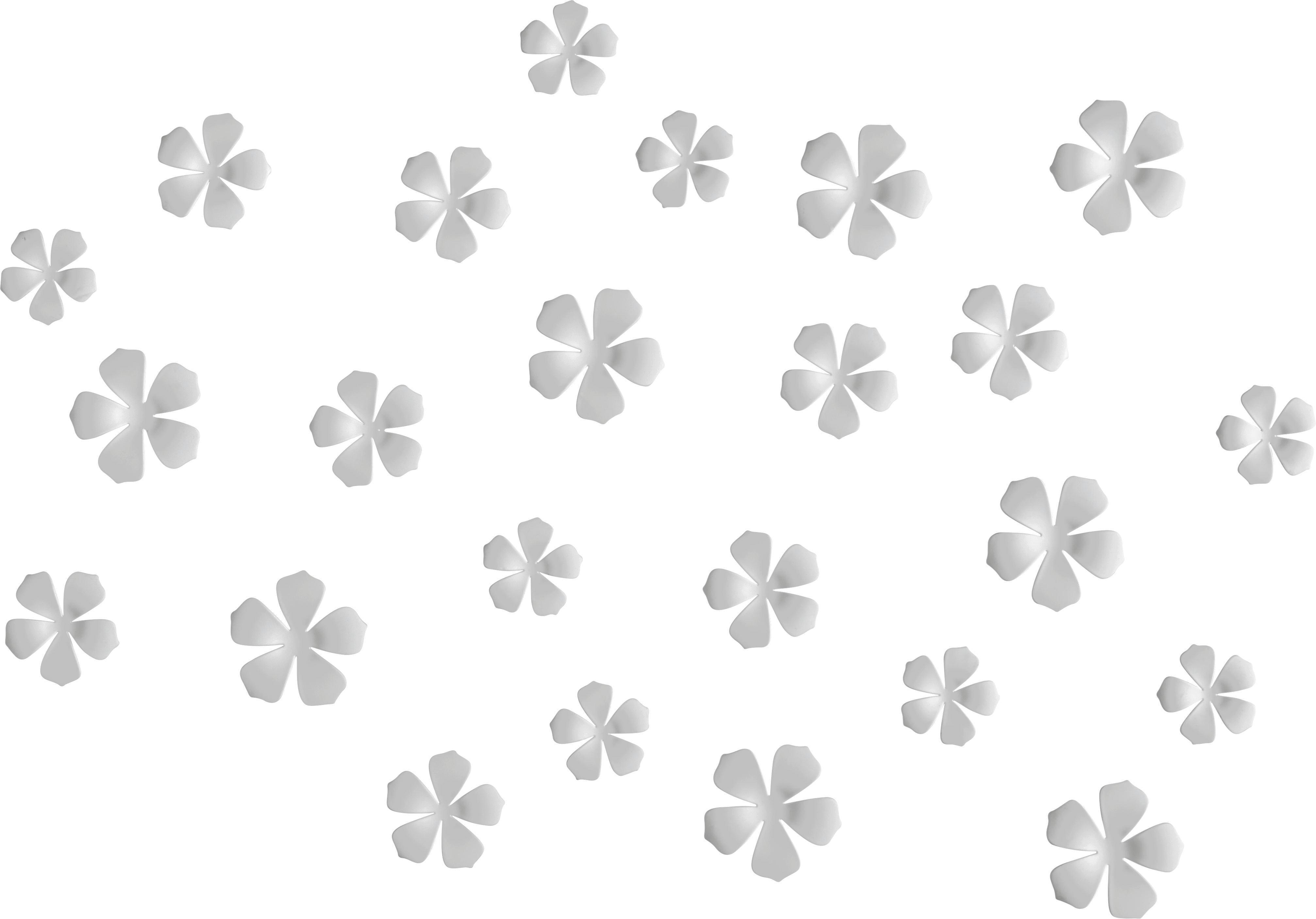 Fali Dekoráció Flower - fehér, modern, műanyag (10,5/16,8cm) - MÖMAX modern living