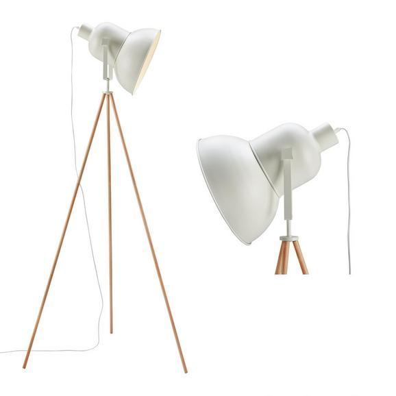 Stehleuchte John - Weiß, MODERN, Holz/Metall (62/152cm) - Modern Living