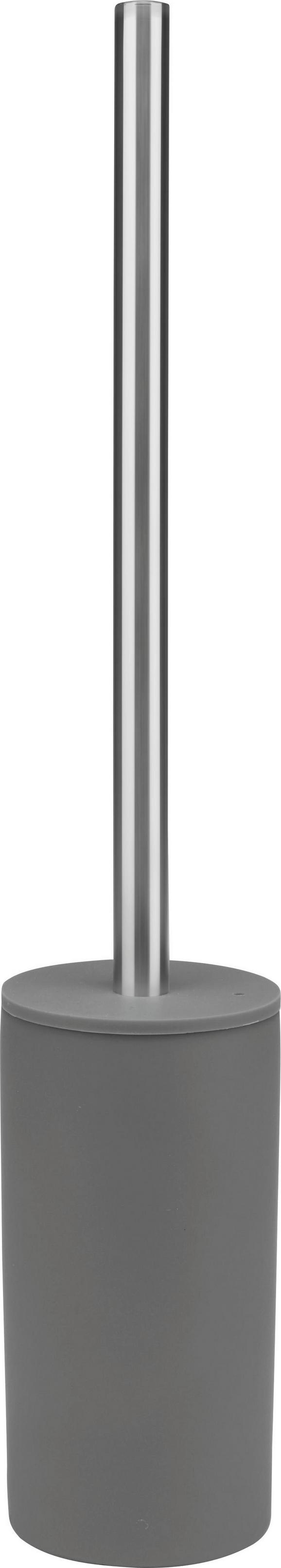 WC-Bürste Melanie in Anthrazit - KONVENTIONELL, Kunststoff/Metall (8/45cm) - MÖMAX modern living