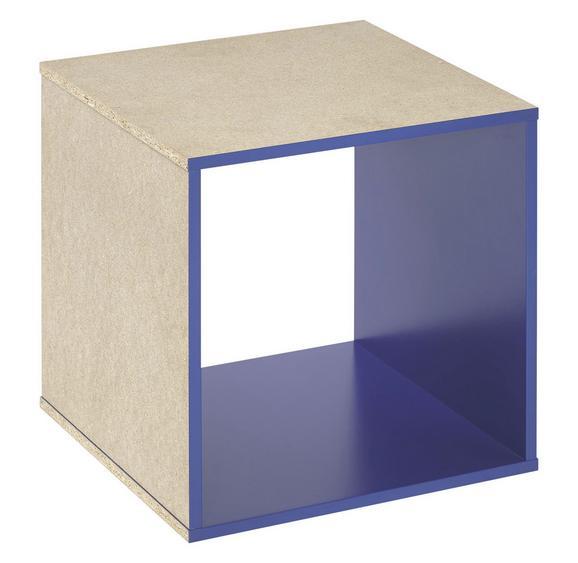 Vstavek Za Regal Aron/space - modra, leseni material (35/35/33cm)