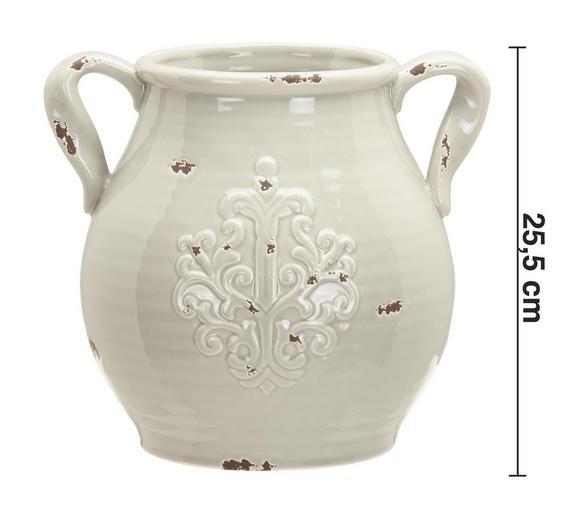 Dekokrug Nephele - Grau, MODERN, Keramik (28,5/24,5/25,5cm) - MÖMAX modern living
