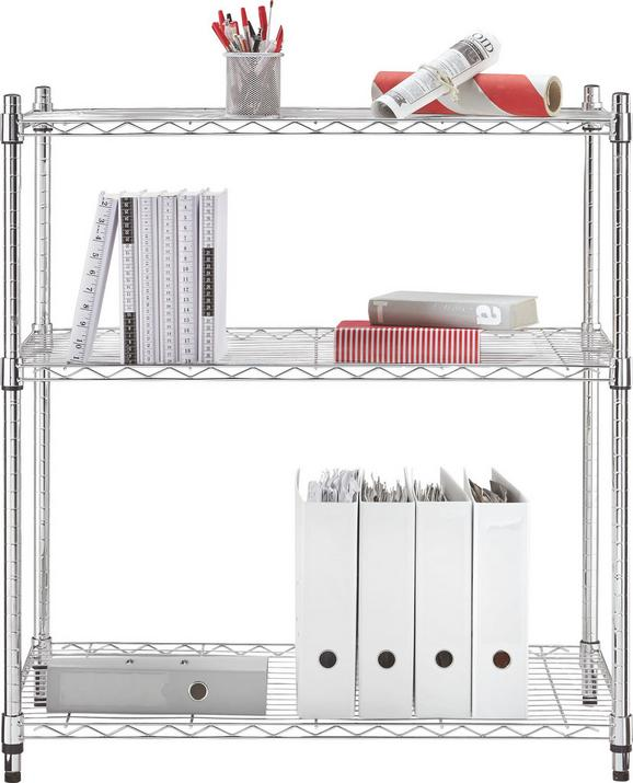 REGAL Chromfarben, 3 Ablagen - Chromfarben, Kunststoff/Metall (91/99/46cm) - Mömax modern living