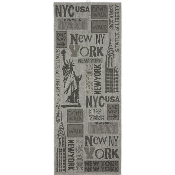 Flachwebeteppich New York ca. 80x200cm - Grau, KONVENTIONELL (80/200cm) - Mömax modern living