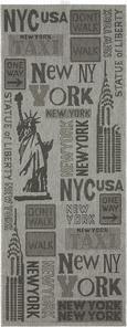 Flachwebeteppich New York - Grau, KONVENTIONELL (80/200cm) - MÖMAX modern living