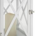 Laterne Henric inkl. Led-kerze H ca. 50 cm - Schwarz/Weiß, MODERN, Glas/Holz (23/23/50cm) - Mömax modern living