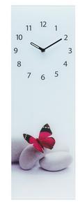 Wanduhr Mona, ca. 20x60x3,5cm - Multicolor, KONVENTIONELL, Glas/Metall (20/60/3,5cm)
