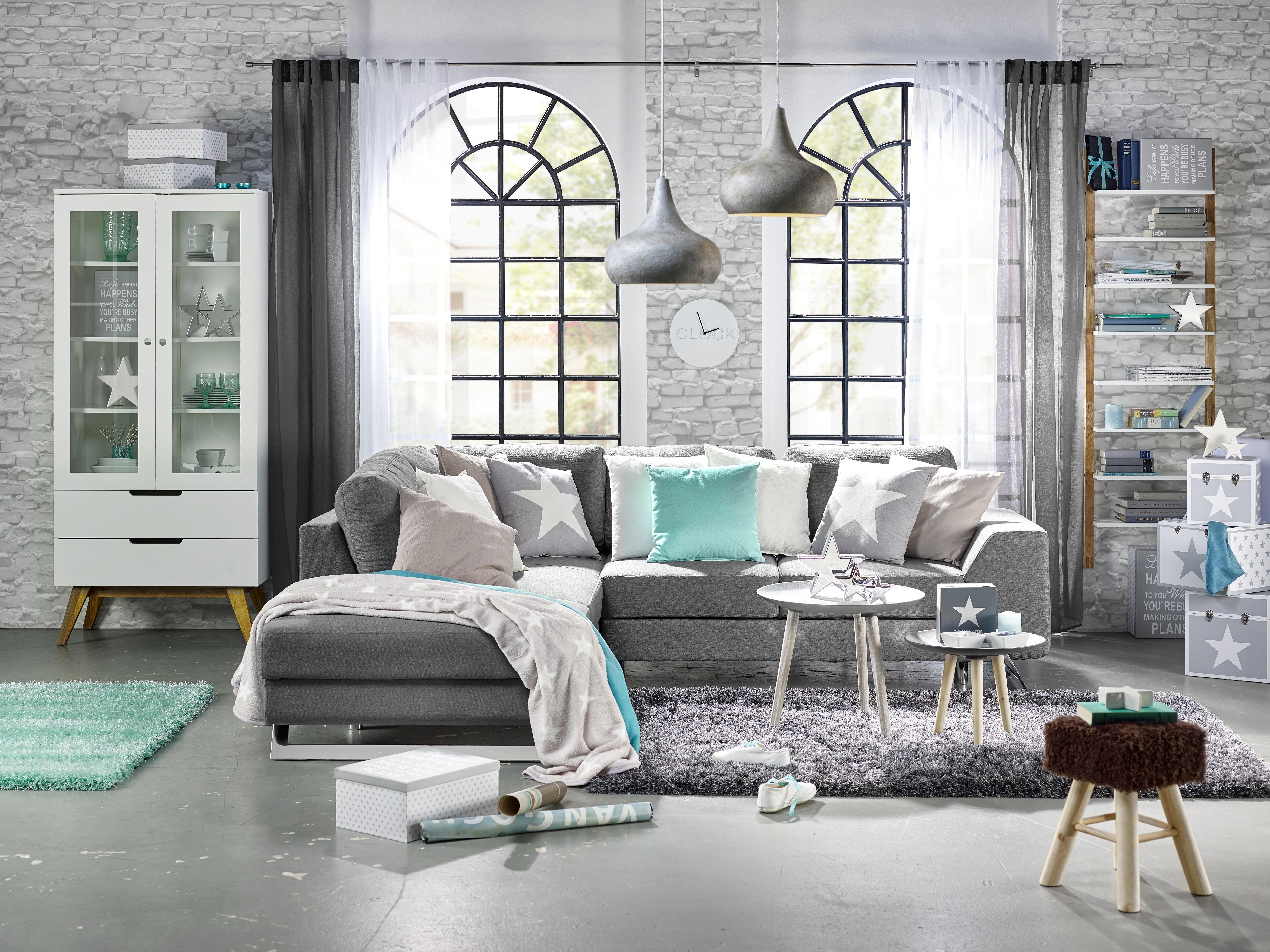 Vitrin Durham - barna/fehér, modern, üveg/fa (85/190/45cm) - MÖMAX modern living
