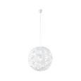 Hängeleuchte Begonia max. 60 Watt - Weiß, LIFESTYLE, Kunststoff/Metall (60/150cm) - Mömax modern living