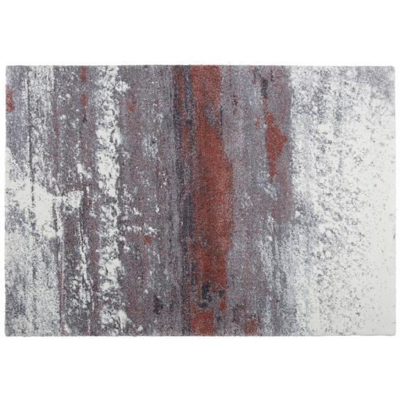 Webteppich Topas Bunt 133x190cm - Hellgrau/Kupferfarben, MODERN (133/190cm)