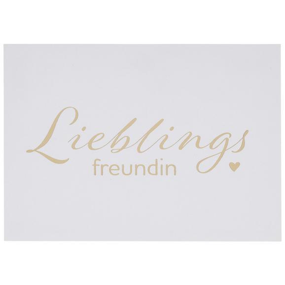 Postkarte Lieblingsfreundin - Goldfarben, Papier (14,8/10,5cm)