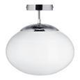 Deckenleuchte Florica - Chromfarben, MODERN, Glas/Metall (30/30cm) - Premium Living