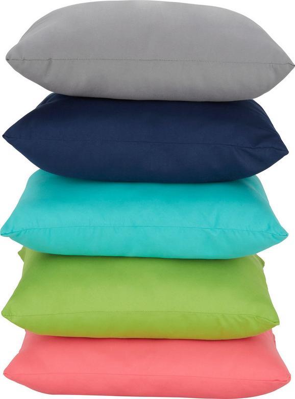 Zierkissen Maxi, ca. 40x40cm - Türkis/Blau, Textil (40/40cm) - MÖMAX modern living