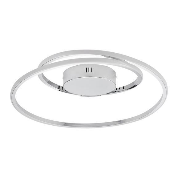 LED-Deckenleuchte Meo max. 23 Watt - Chromfarben, ROMANTIK / LANDHAUS, Kunststoff/Metall (45cm) - Premium Living