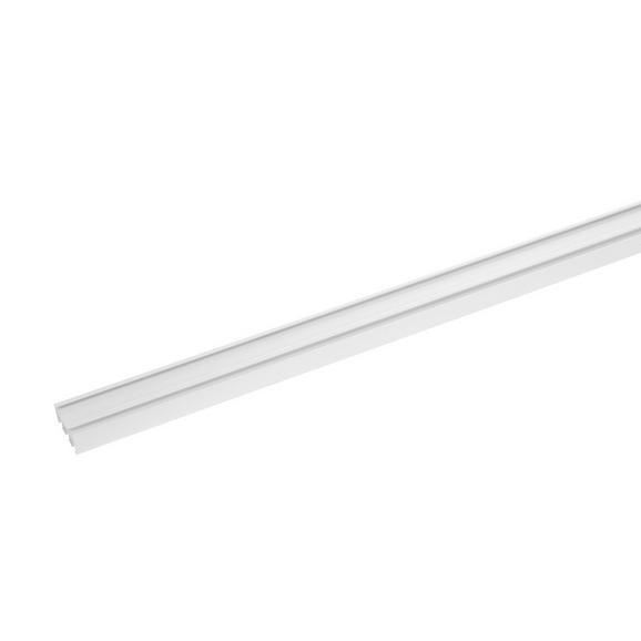 Vorhangschiene Style Weiß - Weiß, Metall (260cm) - Premium Living