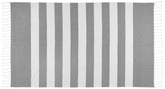 Strandtuch Kathrin 100x200cm - Grau, Textil (100/200cm) - MÖMAX modern living