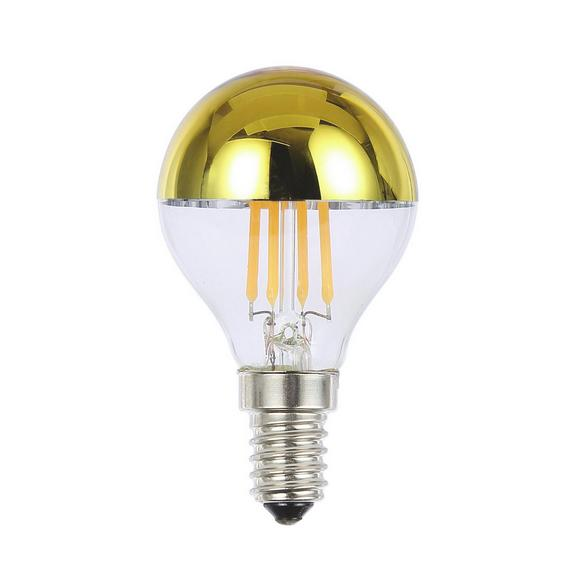 LED-Leuchtmittel 10505, max. 4 Watt - Klar/Silberfarben, Glas (4,5/7,9cm)