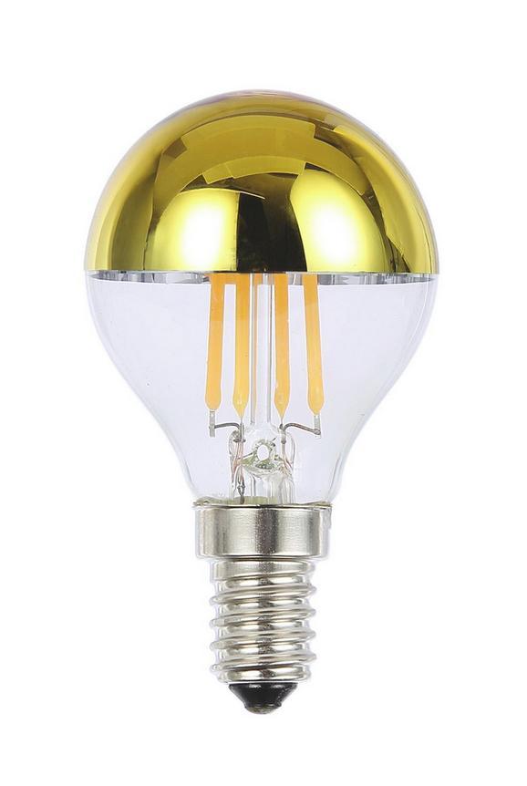Led-žarnica 10505 - zlata/srebrna, steklo (4,5/7,9cm)