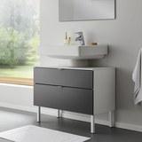 Unterschrank Bianco - Weiß/Grau, MODERN, Kunststoff (80/61/40cm) - Modern Living