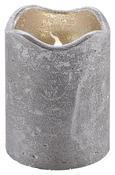 Led-kerze Loa - Silberfarben, MODERN, Weitere Naturmaterialien (9cm)