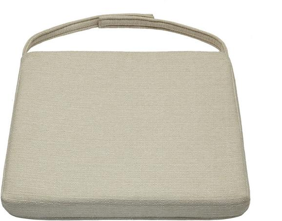 Sitzkissen Grau ca. 46x5x40cm - Grau, Textil (46/42/5/40cm) - Zandiara
