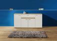 Komoda Carmen - aluminij/bela, Moderno, umetna masa/leseni material (160,2/79,9/35cm) - Mömax modern living