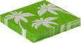 Serviete Palmen - bela/zelena, papir (33/33cm)