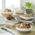 Coș De Pâine Livi - alb/gri, hârtie/textil - Modern Living